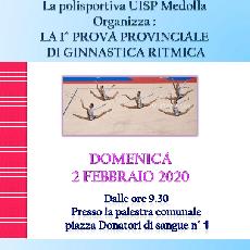 1° prova ginnastica Ritmica Uisp Modena - 2 Febbraio Medolla